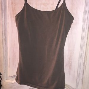 EXPRESS Cami w built in bra Olive Green!